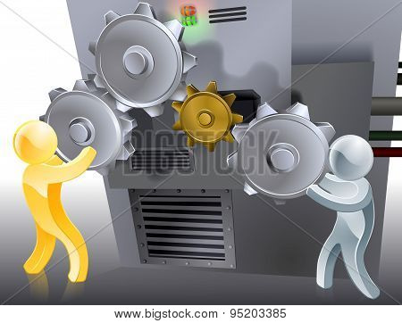 Mascots Setting Machine