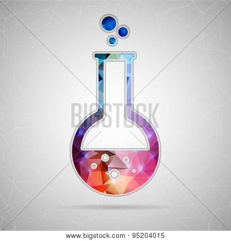 Abstract Creative concept vector icon of beaker for Web and Mobile Applications isolated on backgrou