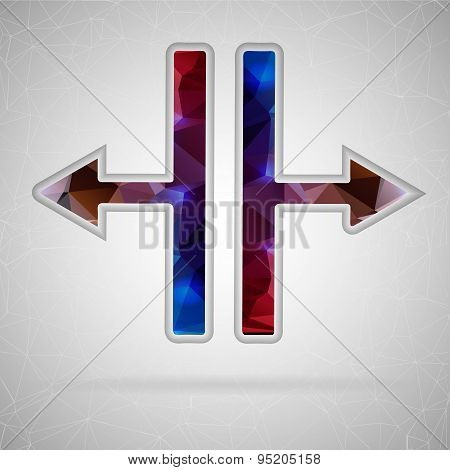 Abstract Creative concept vector icon of Splitter. For Web and Mobile applications isolated on backg