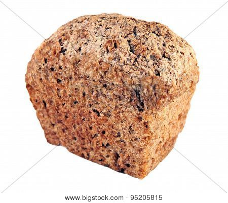 Small bread isolated on a white background