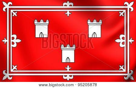 Flag Of Aberdeen, Scotland.