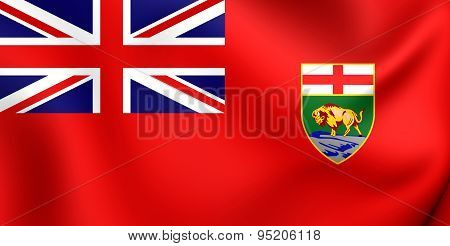 Flag Of The Manitoba, Canada.