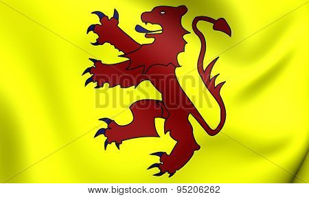 Flag Of Welsh Kingdom Of Powys And The House Of Mathrafal