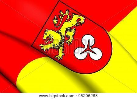 Flag Of Hanover Region, Germany.
