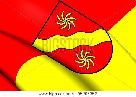 Flag Of Warendorf Kreis, Germany.