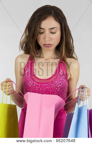 Disappointed Woman With Her Gifts