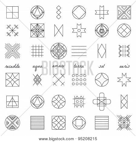 Set Of Geometric Hipster Shapes45