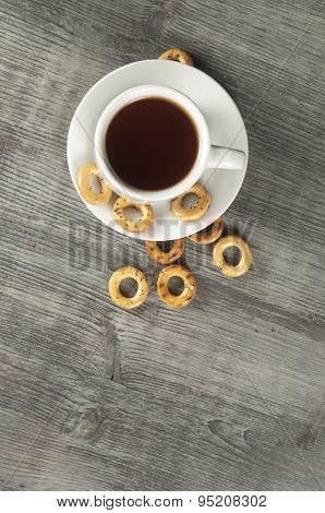 Dried Biscuits And Tea