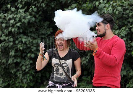 Helium bubbles