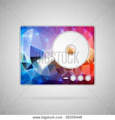 Abstract creative concept vector icon of DJ mixer table. For web and mobile content isolated on back