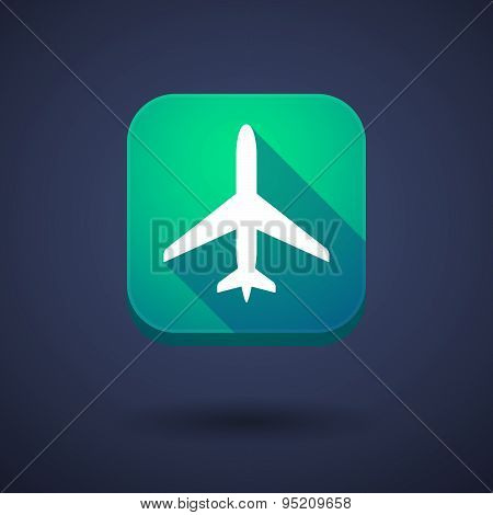 App Button With A Plane