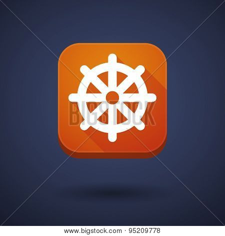 App Button With A Dharma Chakra Sign