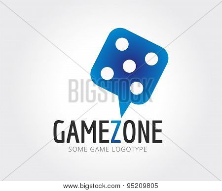 Abstract casino cube logo template for branding and design