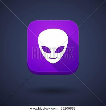 App Button With An Alien Face