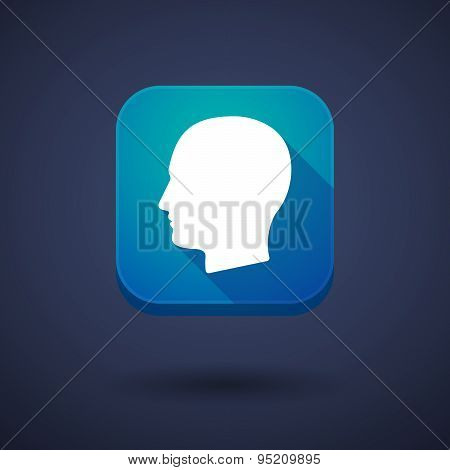 App Button With A Male Head
