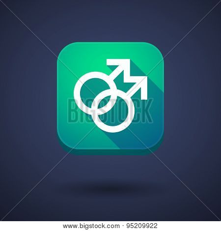 App Button With A Gay Sign