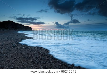Sunset On Atlantic Ocean Coast