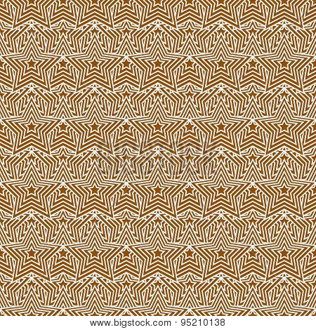 Orange And White Star Tiles Pattern Repeat Background