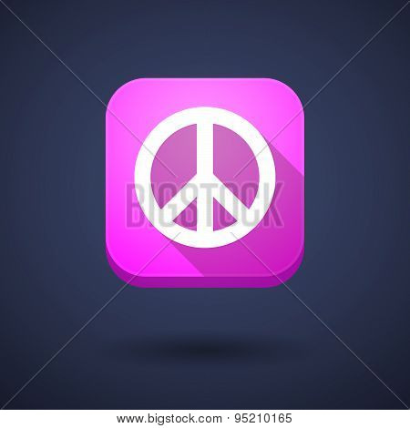 App Button With A Peace Sign