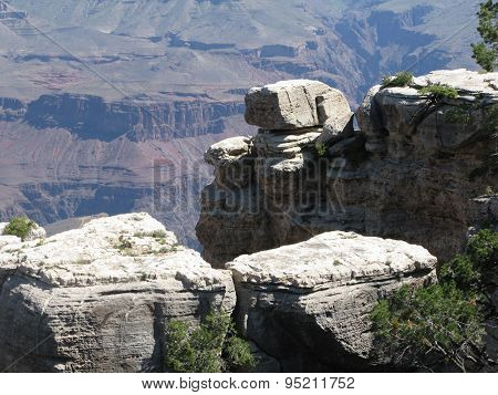 White rocks on the edge