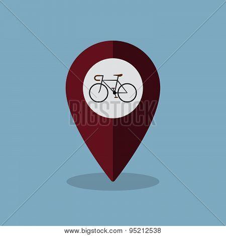 Bicycle Map Pin