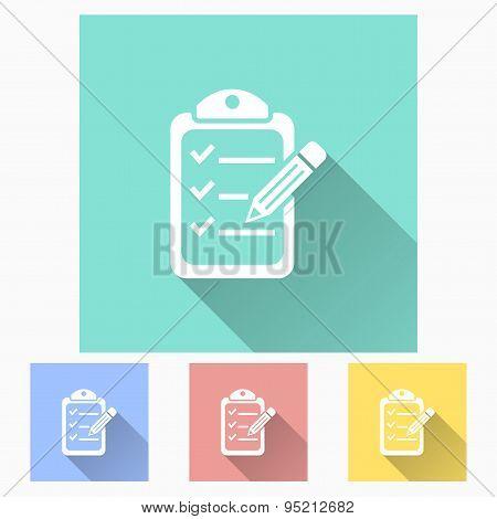 Clipboard Pencil Icon