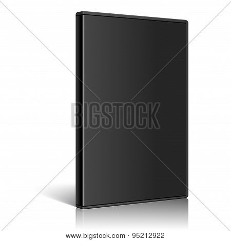Cool Realistic Case For Dvd Or Cd Disk. Vector
