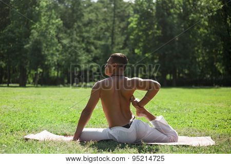 Yoga Workout In Park