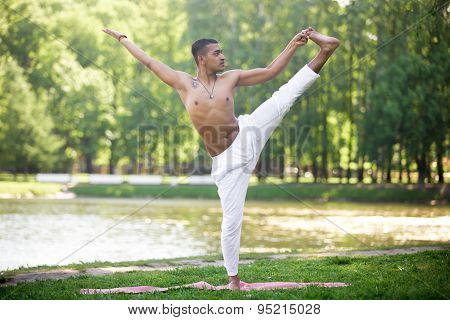 Indian Young Man Practicing Yoga