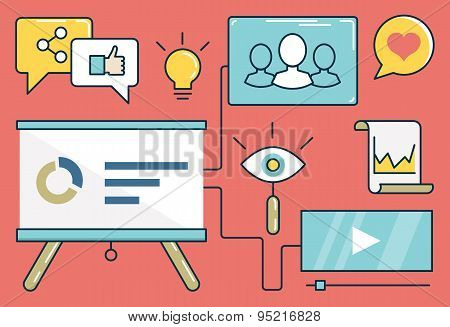 Vector Illustration Of Web Analytics Information And Development Website Statistic
