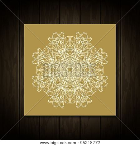 Vintage Needle lace. Traditional floral ornament. Arabic pattern