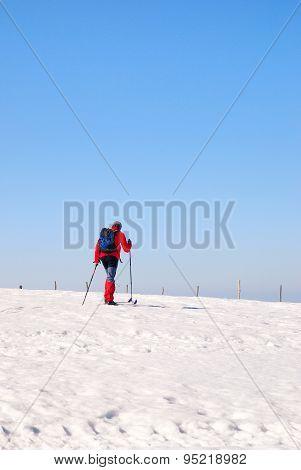 Man With Ski