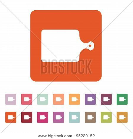 The Cutting Board Icon. Chopping Board Symbol. Flat