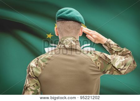 National Military Forces With Flag On Background Conceptual Series - Macau