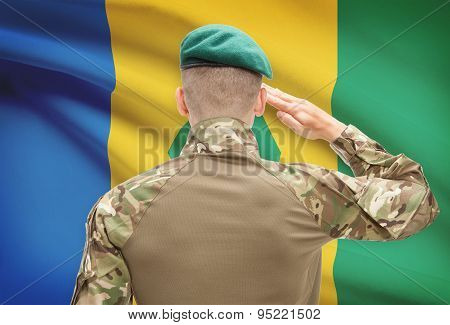 National Military Forces With Flag On Background Conceptual Series - Saint Vincent And The Grenadine