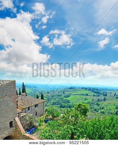 Tuscany Landcape Seen From San Gimignano