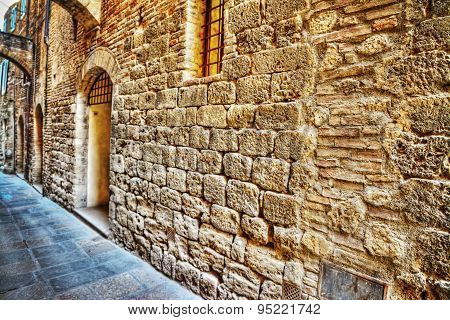 Narrow Street In San Gimignano