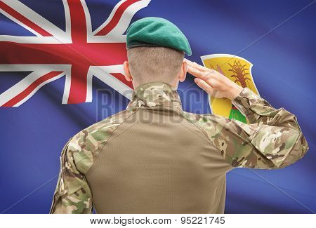 National Military Forces With Flag On Background Conceptual Series - Turks And Caicos Islands