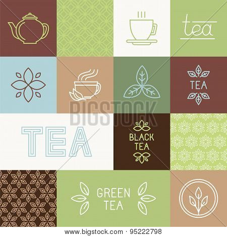 Vector Tea Package Design Elements