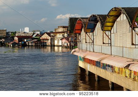 Banjarmasin City On An Borneo Island, Indonesia