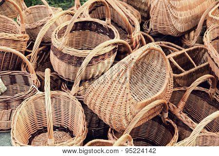 Plenty Straw Basket Taken Closeup.