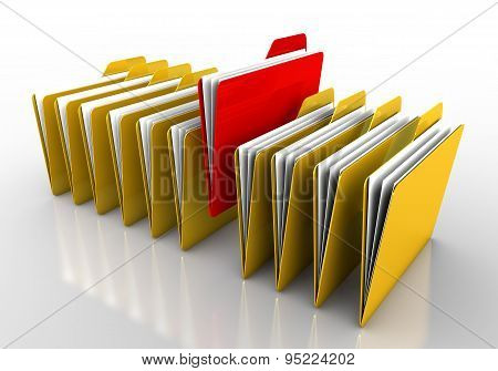 Yellow And Red Folder