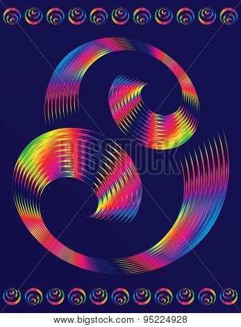 Text Template Of Colorful Spiral Elements Vector Design