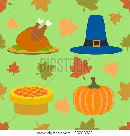 Thanksgiving day seamless background