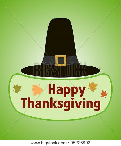 Thanksgiving day background with Pilgrim hat