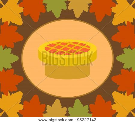 Autumn Thanksgiving  Day  background with pie