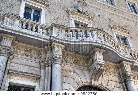 Compagnoni-Marefoschi Palace. Macerata. Marche.