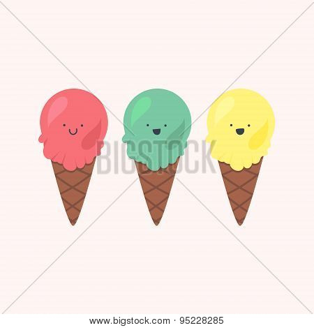 Vector Set Of Ice-creams