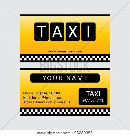 Taxi service card.