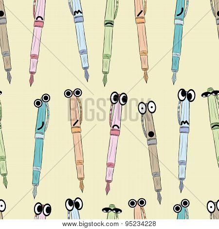 Seamless big-eyed emotional pens